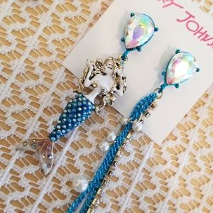 Betsey Johnson mermaid earrings